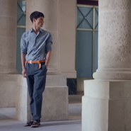 "Video still from Hermès' ""A flâneur is as a flâneur does"" series"