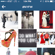 #NYFW has more than 1 million mentions on Instagram