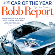Robb Report's March 2015 cover