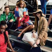 Karlie Kloss with attendees at 2014 Vogue Festival
