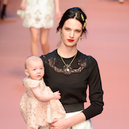 Dolce & Gabbana runway show featured models with their own children