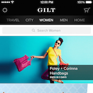 Gilt's mobile app for iPhone