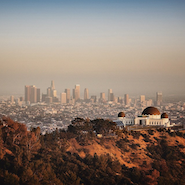 Burberry Instagram image of Griffith Observatory