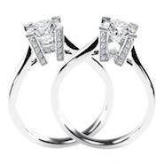 """HW"" diamond engagement rings"