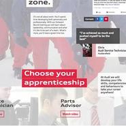 Audi apprenticeship Web site
