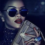 Dior Secret Garden campaign image featuring Rihanna