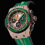 Hublot presented Mr. Mayweather with an emerald-encrusted watch