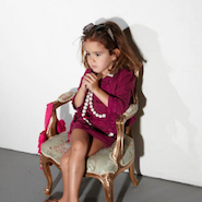 Outfit from Lanvin's Petite collection for children