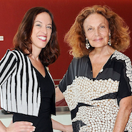 Fordham University professor Susan Scafidi with CFDA president Diane von Furstenberg