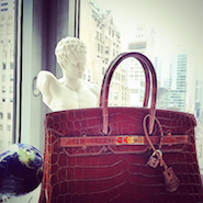 Hermes Birkin handbag; image courtesy of Portero