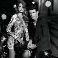 Promotional campaign for Balmain Homme