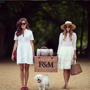 Promotional image for Fortnum & Mason's picnic hampers