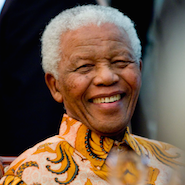 South African political leader Nelson Mandela