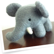 Holt Renfrew's felted elephant