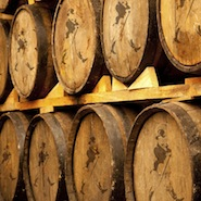 Johnnie Walker scotch whisky barrels
