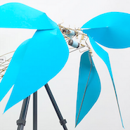 Robotic flowers featured in Lane Crawford's anniversary window display