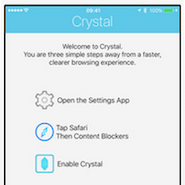 Crystal is a popular iPhone ad-blocking app