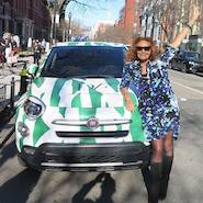 Diane von Furstenberg with branded Fiat