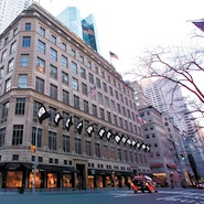Exterior of Saks Fifth Avenue's New York flagship