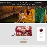 Gucci's updated Web site