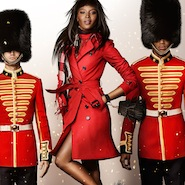Naomi Campbell for Burberry, holiday 2015