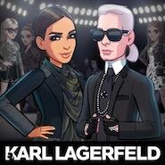 Karl Lagerfeld with Kim Kardashian on the reality star's app