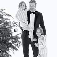 Brad Kroenig with sons Hudson and Jameson for Tiffany