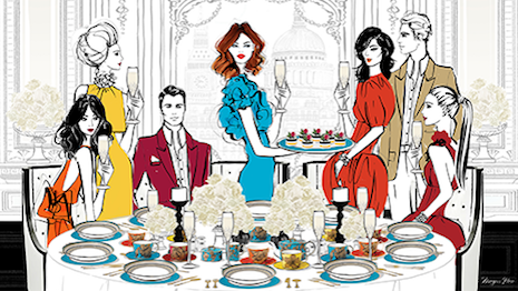Illustration by Megan Hess for Wedgwood
