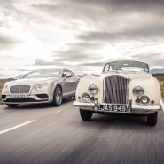 Bentley Continental GT (left) and R-Type Continental (right)