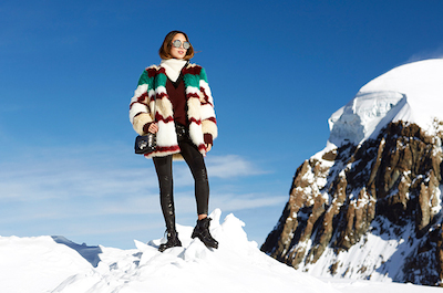 Jimmy Choo winter blogger Aimee