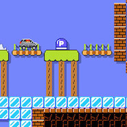 Still from Super Mario Makers' Jump'n'Drive