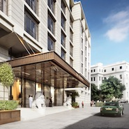 Rendering of The Peninsula London entrance