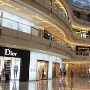 Dior store in Chinese shopping mall