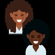 Dove's curly hair emojis