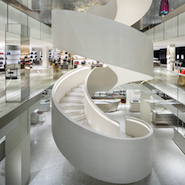 Barneys' downtown central staircase, photo by Scott Frances