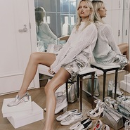 Karolina Kurkova for Net-A-Porter, footwear spring/summer 2016