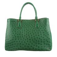 Prada handbag in ostrich leather