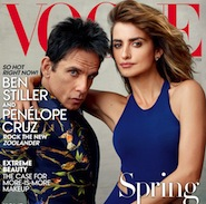 Ben Stiller as Zoolander with Penelope Cruz for Vogue February 2016