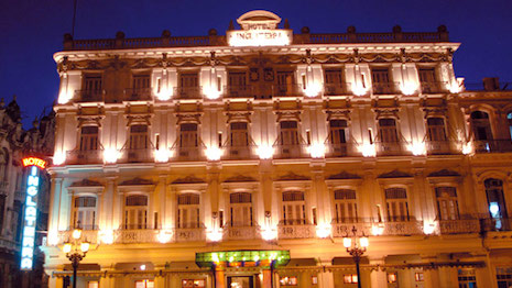 The Hotel Inglaterra in Havana, Cuba
