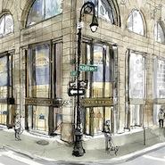 Illustration of Smython's Madison Avenue boutique