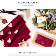 Burberry Mother's Day email