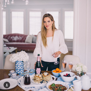 One of blogger Julia Engel of Gal Meets Glam's sponsored photos for Chandon