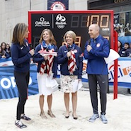 Omega on the Today Show, 100 days away from the 2016 Summer Olympics