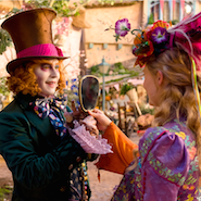 "Johnny Depp and Mia Wasikowska in ""Alice Through the Looking Glass"""