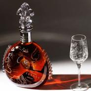 Louis XIII cognac and Saint-Louis glasses