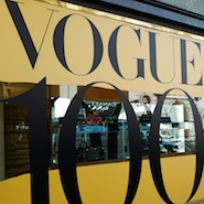 Vogue 100 display at Mulberry's boutique