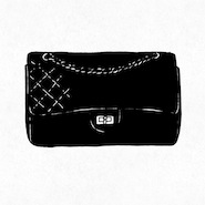 Illustration of Chanel's 2.55 handbag
