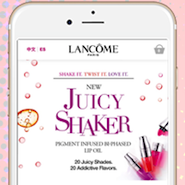 Lancome's shoppable ads on Snapchat