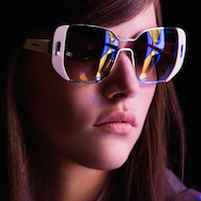 Image from Prada's Mod eyewear effort