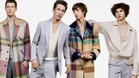 Zegna couture ad campaign